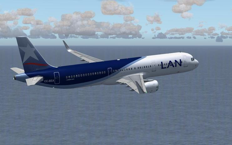 FS2004 LAN Airlines Airbus A321-211