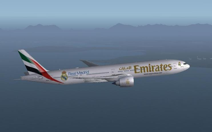 "FS2004/FSX Emirates ""Real Madrid"" Boeing 777-300ER"