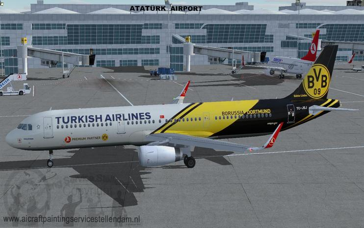FS2004 Turkish Airlines Airbus A321-200s BVB