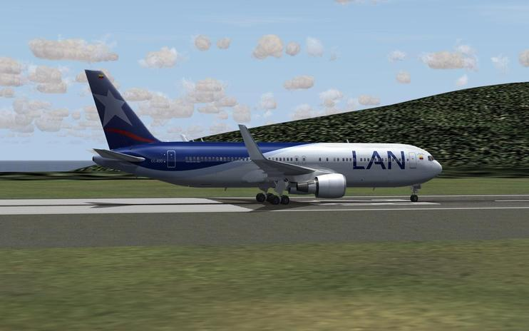FS2004 LAN Colombia Airlines Boeing 767-300ER