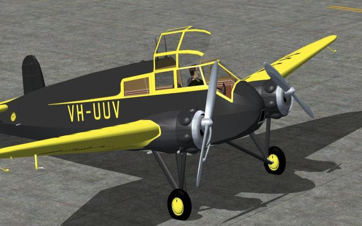 FS2004 Adelaide Airways GAL Monospar ST-25