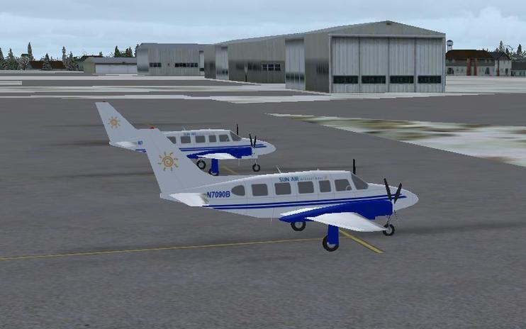 FS2004 Sun Air International Piper PA-31 Navajo