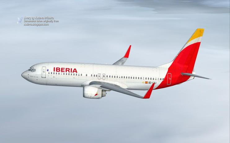 FSX Iberia Airlines Boeing 737-856WL