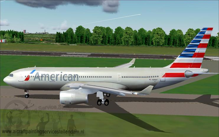 FS2004/FSX American Airlines Airbus A330-200
