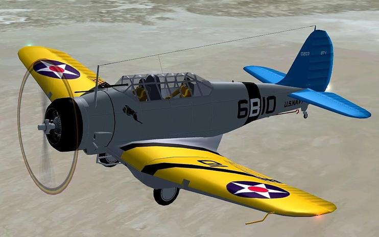 FSX Northrop BT-1 With Updated Panels