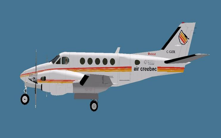 FS2004 Air Creebec Beechcraft King Air A100