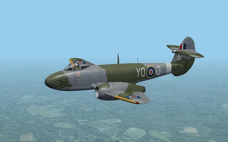 FSX Gloster Meteor F3 And F8