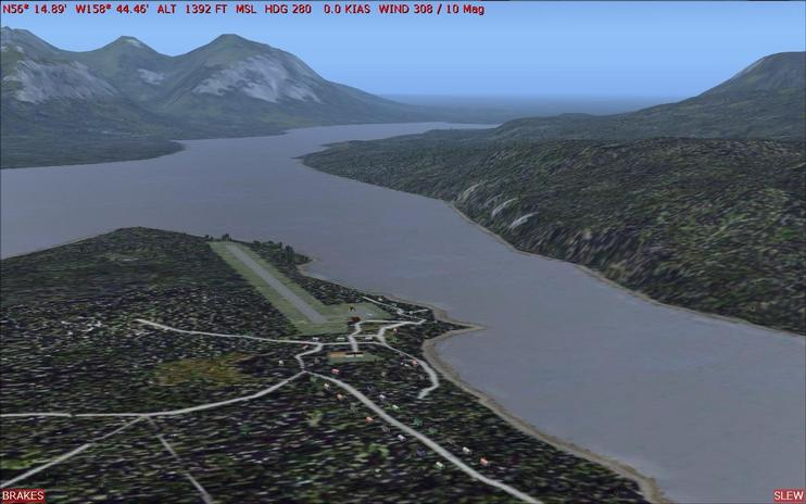 FS2004 Scenery - Chignik Lake A79 And Port Heiden PAPH