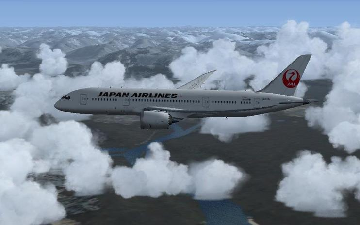 FS2004/FSX Japan Airlines Boeing 787-8