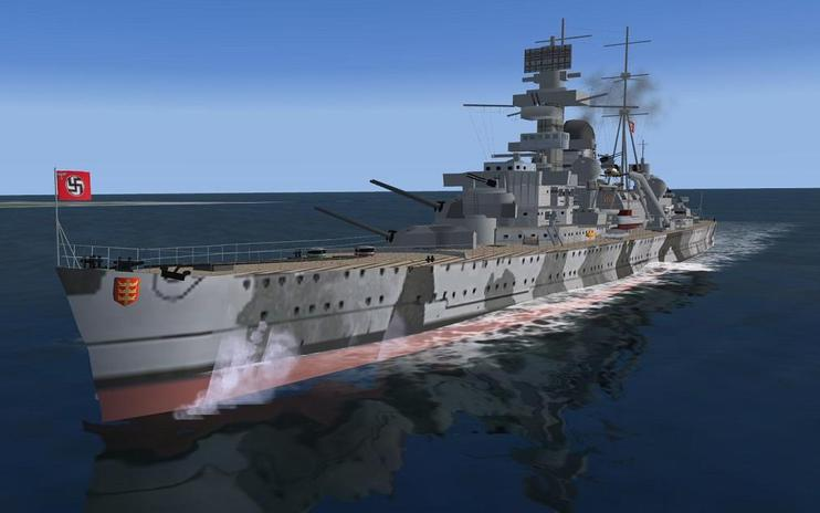 FS2004/FSX Pilotable Heavy Cruiser Admiral Hipper