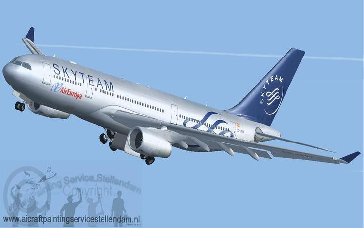FS2004/FSX Air Europa Airbus A330-200 Sky Team