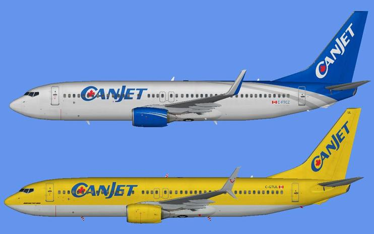 FSX Canjet Airlines W15 Fleet And Flight Plans