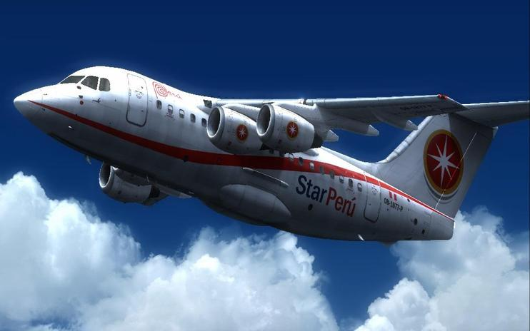 FS2004 Star Peru British Aerospace BAe 146