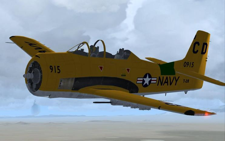 FSX T-28 Texan With Updated Panels