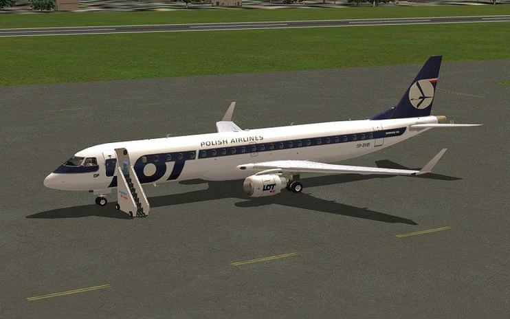 FSX LOT Polish Airlines Embraer 190-LR