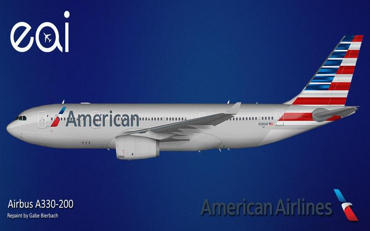 FS2004 American Airlines Airbus A330-200