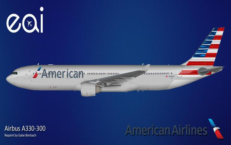 FS2004 American Airlines Airbus A330-300