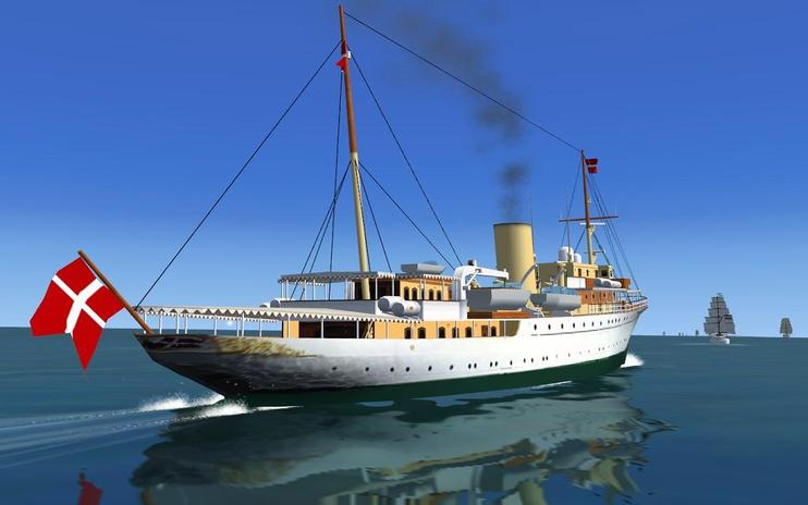 FSX Pilotable Danish Royal Yacht Dannebrog