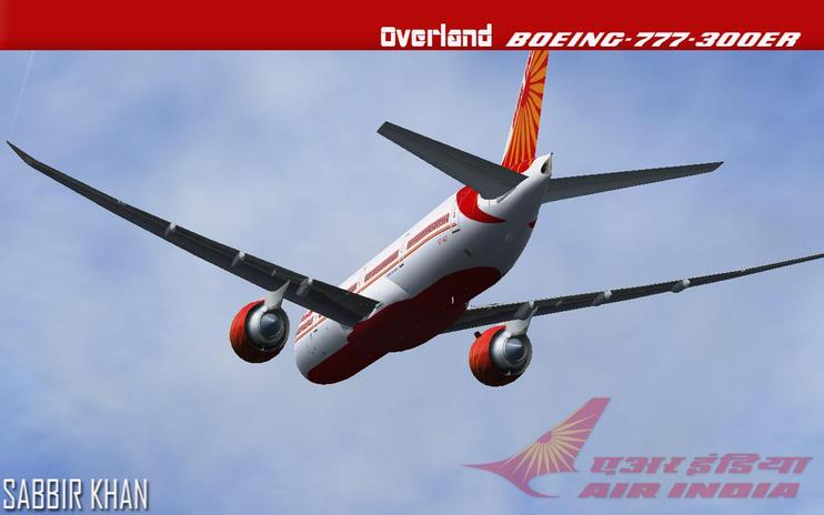 FS2004/FSX Air India Boeing 777-300ER