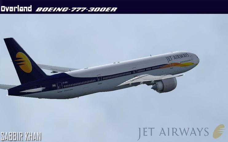 FS2004/FSX Jet Airways Boeing 777-300ER