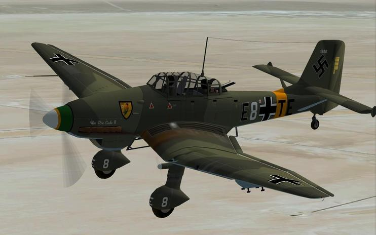 FSX Junkers JU-87 Stuka With Updated Panels