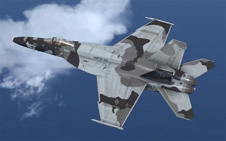 FSX US Navy VMFAT-101 Sharp Shooters Camouflage F/A-18E