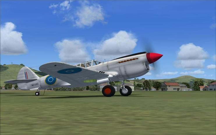 FSX Curtiss P40E NZ3283