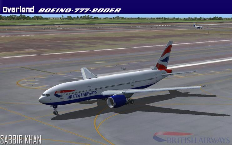 FS2004/FSX British Airways Boeing 777-200ER