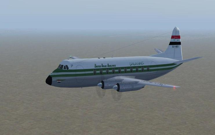 FS2004 United Arab Airways Vickers Viscount 732