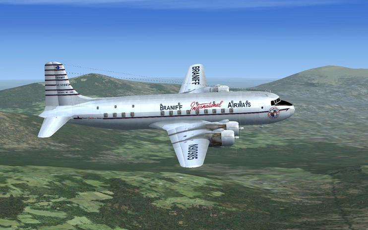 FSX Braniff Douglas DC-6 Delivery Textures