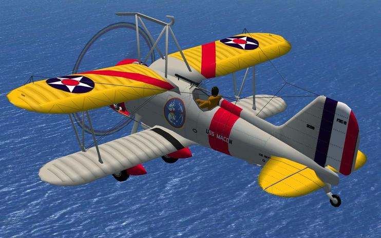 FSX Curtiss Sparrowhawk With Updated Panels