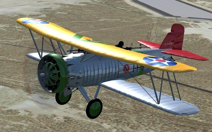 FSX Curtiss Helldiver With Updated Panels