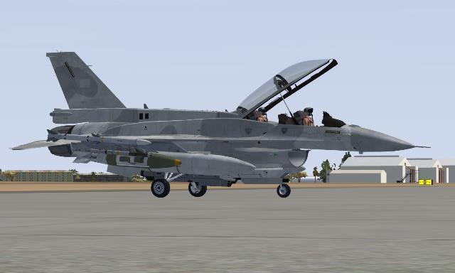 FSX UAE Air Force F-16F Blanked Repaints
