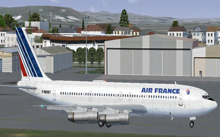 FS2004/FSX Air France Boeing 707