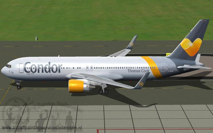 FS2004 Condor Boeing 767-300 by Mathieu Vos / FSX Add-ons