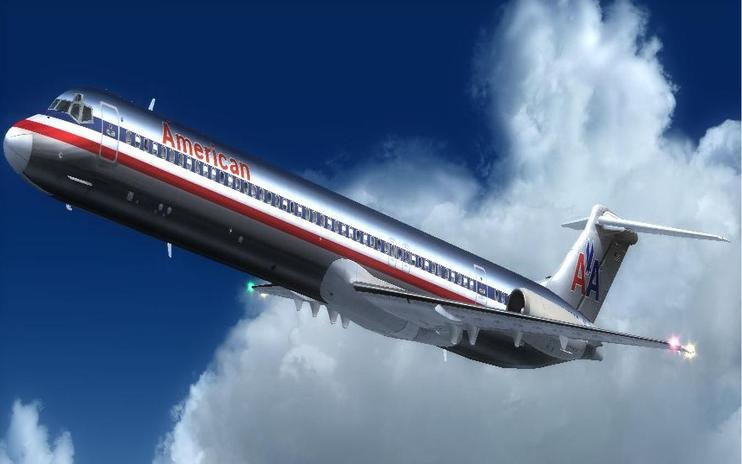 FS2004 American Airlines Douglas MD-82