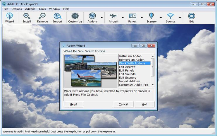 Prepar3D Addit! Pro Add-on Manager V8.2.1