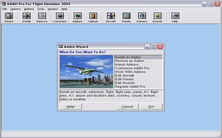 Addit! Pro For Flight Simulator 2004 Add-on Manager V6.8.1