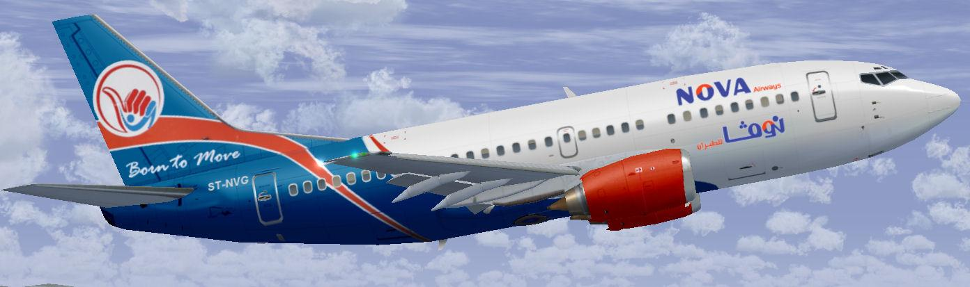 FS2004/FSX Nova Airways Boeing 737-500
