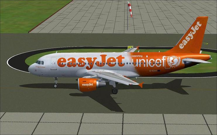 Airbus A319-111 Easyjet 2texture