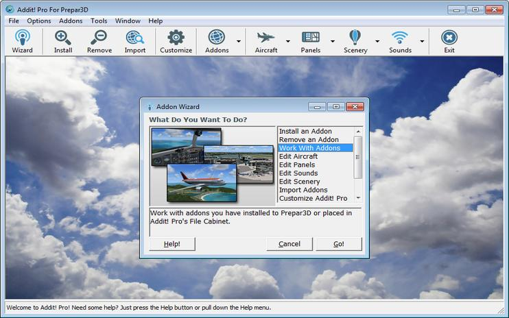 FSX Prepar3D Addit! Pro Add-on Manager V8.5.2