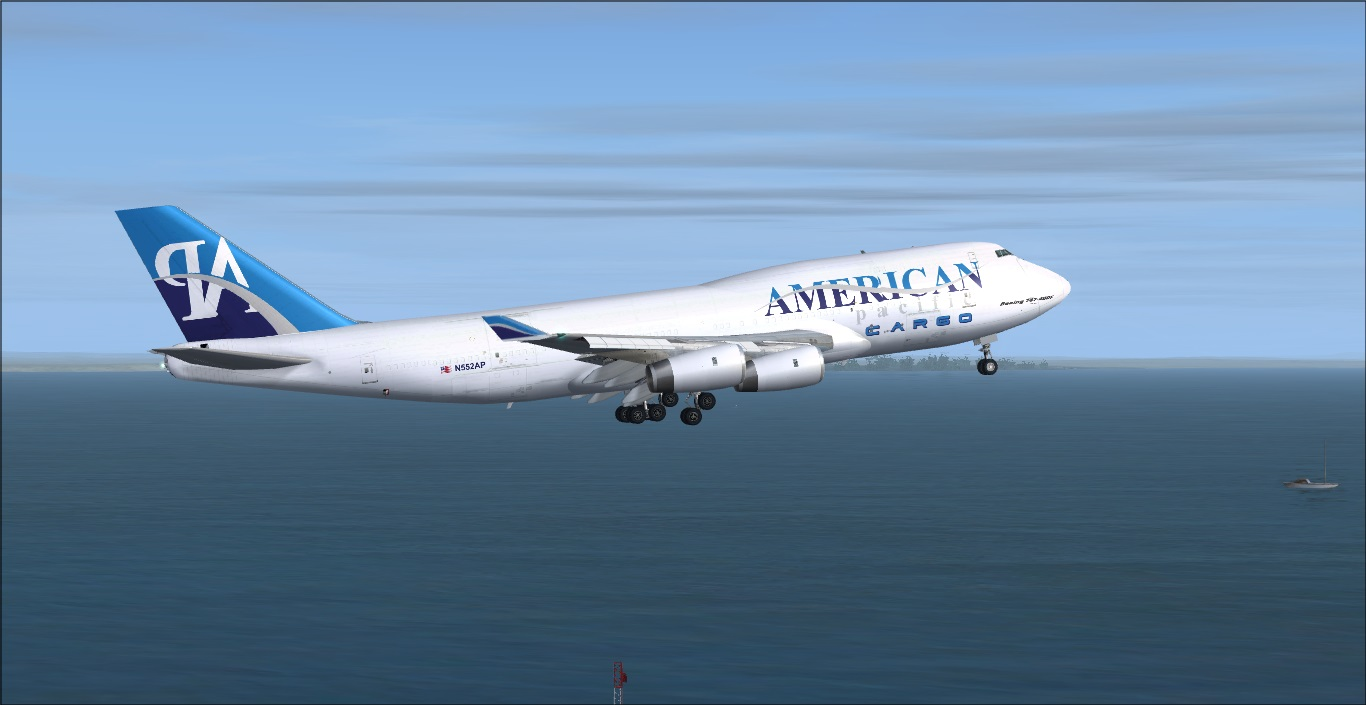 American Pacific Airways B747-400 freighter