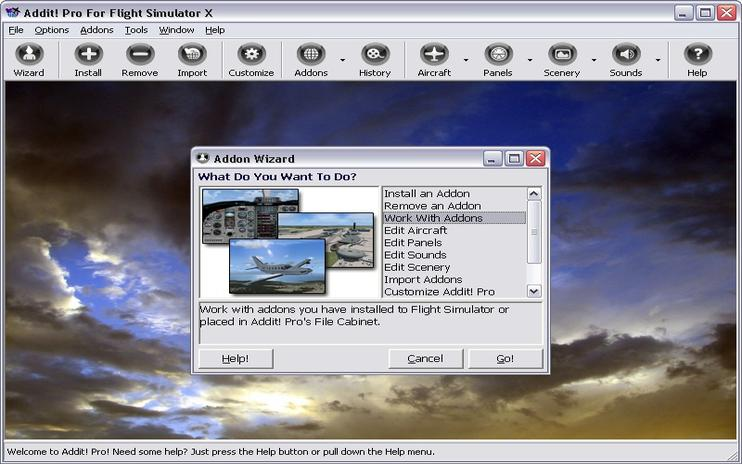 Addit! Pro For FSX Add-on Manager V7.5.8